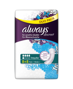 Always Discreet Incontinence Pads+ Long Plus Duo Pack x 16