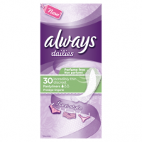 Always Dailies Pantyliners Incredibly Thin Flexistyle 30 Count
