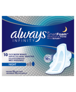 Always Infinity Night Sanitary Towels with Wings 10 count