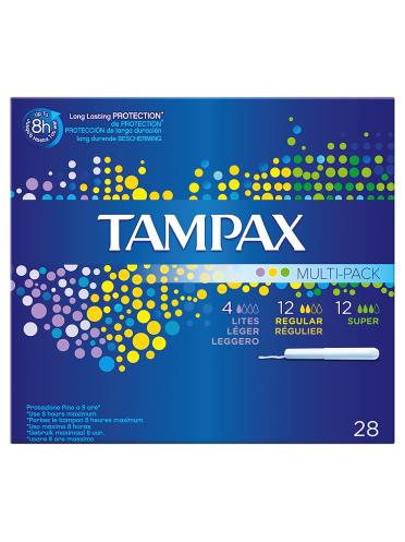 Tampax Cardboard Applicator Multipack Tampons x28