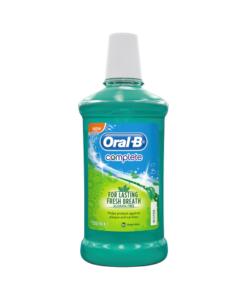 Oral-B Complete Mouthwash No Alcohol Fresh Mint 500 ml