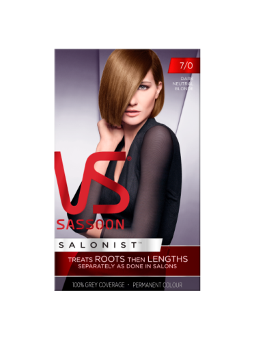 Vidal Sassoon Salonist Permanent Hair Colour 7/0 Dark Neutral Blonde
