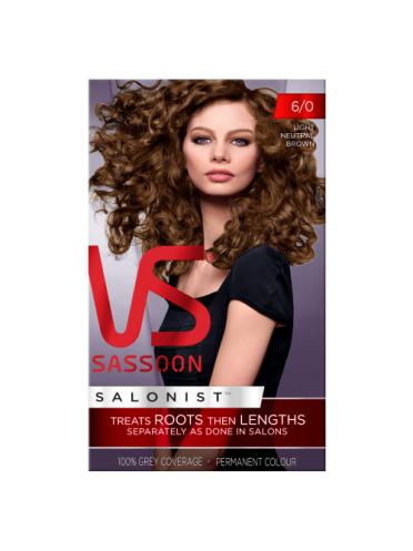 Vidal Sassoon Salonist Permanent Hair Colour 6/0 Light Neutral Brown