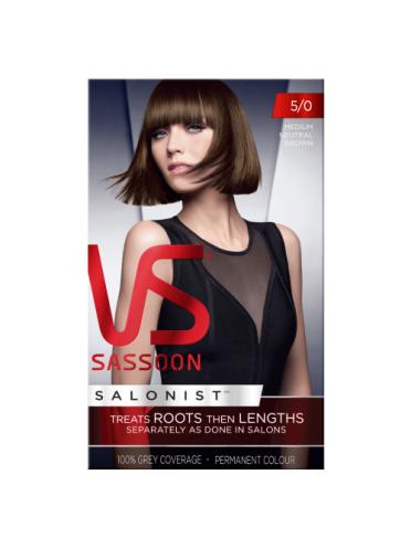 Vidal Sassoon Salonist Permanent Hair Colour 5/0 Medium Neutral Brown