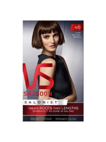Vidal Sassoon Salonist Permanent Hair Colour 4/0 Dark Neutral Brown