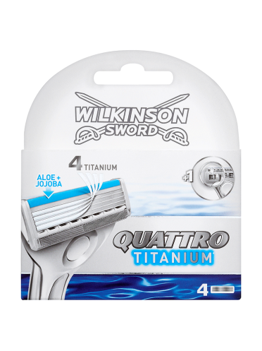 Wilkinson Sword Quattro Titanium Razor Blades x 4