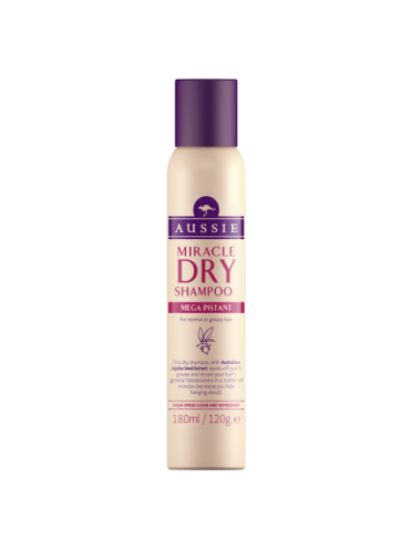 Aussie Miracle Dry Shampoo Mega Instant 180ml