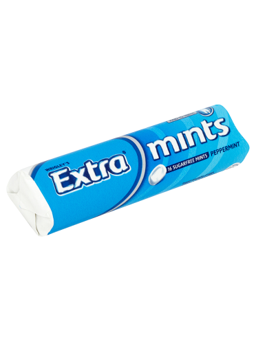 Wrigley's Extra Mints Peppermint 16 Sugarfree Mints 28g