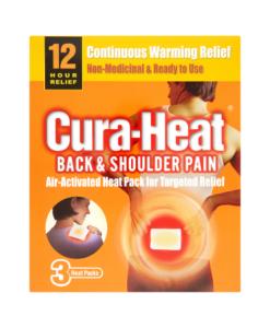 Cura-Heat Back & Shoulder Pain 3 Heat Packs