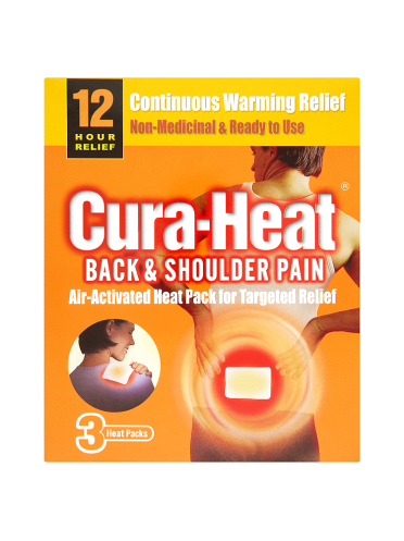 Cura-Heat Back & Shoulder Pain 3 Heat Packs