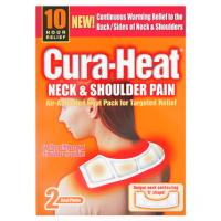 Cura-Heat Neck & Shoulder Pain 2 Heat Packs