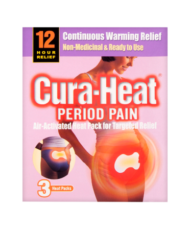 Cura-Heat Period Pain 3 Heat Packs