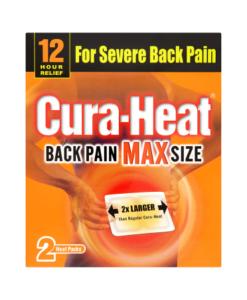 Cura-Heat Back Pain Max Size 2 Heat Packs