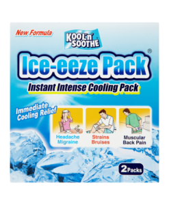 Kool 'n' Soothe Ice-eeze Pack Instant Intense Cooling Pack 2 Packs