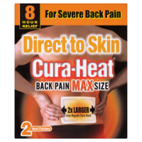 Cura-Heat Back Pain Max Size 2 Heat Patches