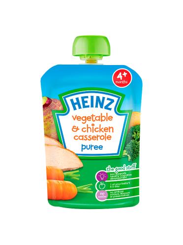Heinz 4+ Months Vegetable & Chicken Casserole Puree 100g