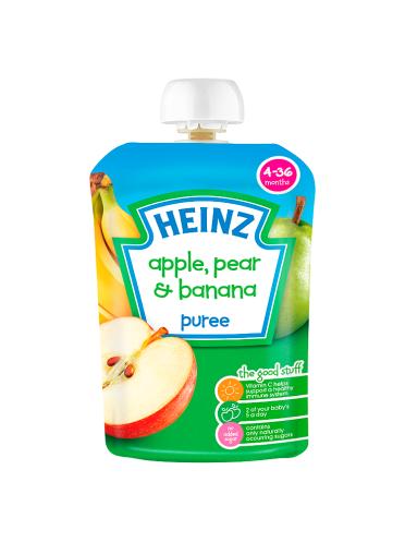 Heinz 4-36 Months Apple, Pear & Banana Puree 100g