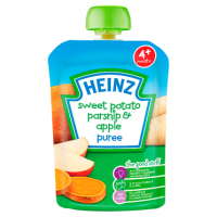 Heinz 4+ Months Sweet Potato Parsnip & Apple Puree 100g