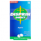 Disprin Direct Aspirin 16 Chewable Tablets