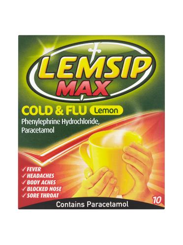 Lemsip Max Cold & Flu Lemon Flavour 10 Sachets