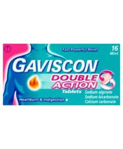 Gaviscon Double Action Tablets Mint 16 Chewable Tablets