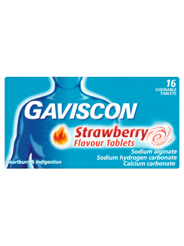 Gaviscon Strawberry Flavour Tablets 16 Chewable Tablets