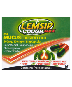 Lemsip Cough Max for Mucus Cough & Cold 16 Capsules