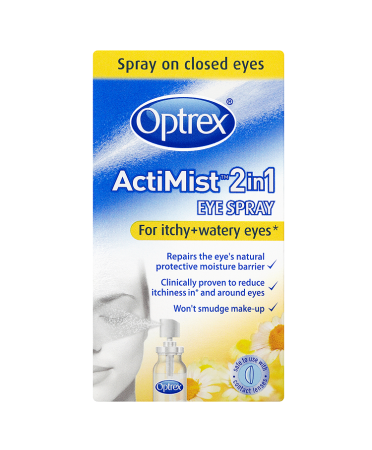 Optrex ActiMist 2 in 1 Eye Spray for Itchy + Watery Eyes 10ml