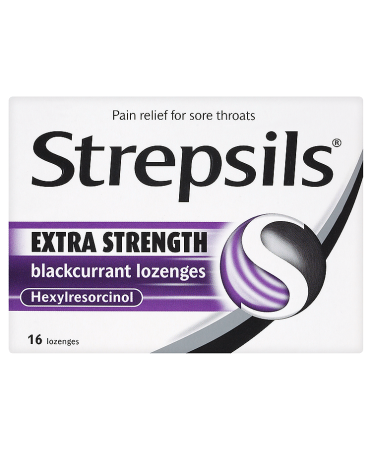 Strepsils Extra Strength Blackcurrant Lozenges 16 Lozenges