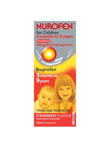 Nurofen for Children 3 Months to 9 Years Strawberry 100ml