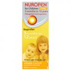 Nurofen for Children 100mg/5ml Oral Suspension Orange Flavour 3 Months to 12 Years 200ml