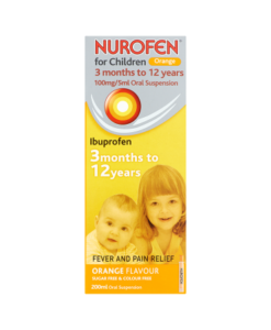 Nurofen for Children 100mg/5ml Oral Suspension Orange Flavour 3 Months to 12 Years 200ml