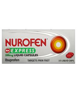 Nurofen Express 200mg Liquid Capsules 10 Liquid Caps