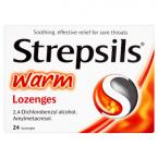 Strepsils Warm Lozenges 24 Lozenges