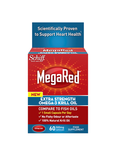 MegaRed Extra Strength Omega-3 500mg Krill Oil 60 Capsules