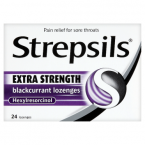 Strepsils Extra Strength Blackcurrant Lozenges 24 Lozenges