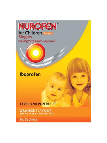 Nurofen for Children Orange Singles 8x