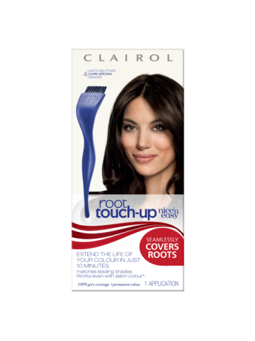 Nice 'n Easy Permanent Hair Colour Root Touch Up Dark Brown #4