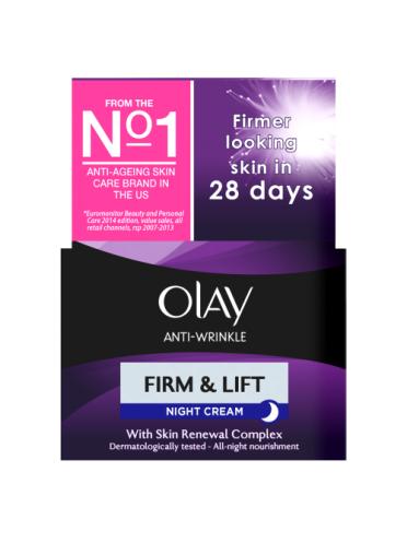 Olay Anti-Wrinkle Firm & Lift Anti-Ageing Moisturiser Night Cream 50ml