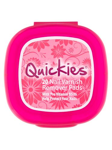 Quickies 20 Nail Varnish Remover Pads