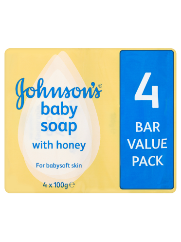 Johnson's Baby Soap with Honey 4 x 100g