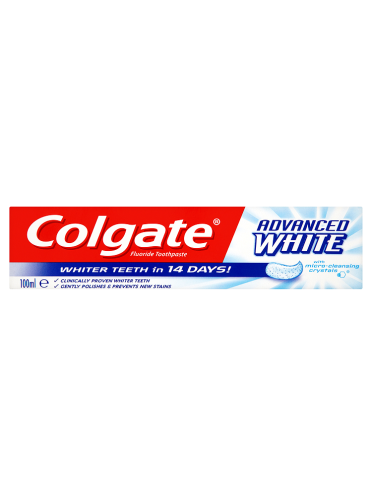 Colgate Advanced White with Micro-Cleansing Crystals Toothpaste 100ml