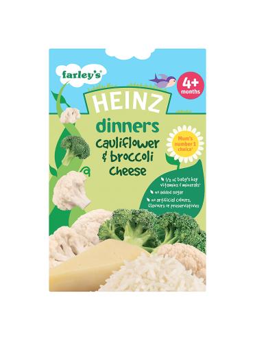 Heinz Dinners Cauliflower & Broccoli Cheese 4+ Months 125g