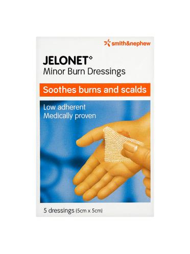 Smith & Nephew Jelonet Minor Burn Dressings 5 Dressings (5cm x 5cm)