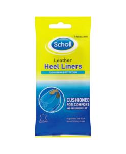 Scholl Leather Heel Liners 1 Pair