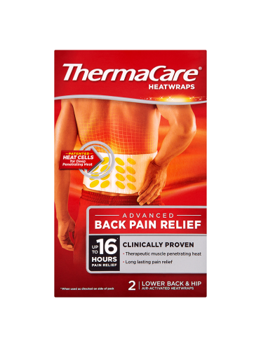 ThermaCare HeatWraps Advanced Back Pain Relief Lower Back & Hip 2 Air-Activated Heatwraps