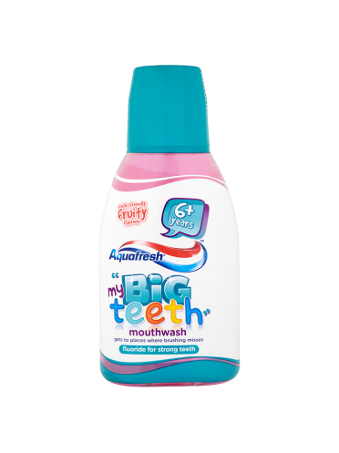 Aquafresh My Big Teeth Mouthwash Child-Friendly Fruity Flavour 6+ Years 300ml