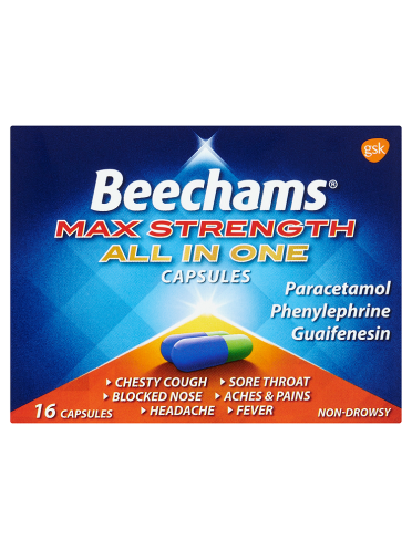 Beechams Max Strength All in One Capsules 16 Capsules