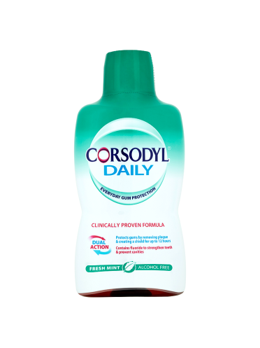 Corsodyl Daily Fresh Mint Alcohol Free Mouthwash 500ml