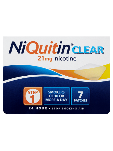 NiQuitin Clear 21mg 24 Hour Step 1 7 Patches